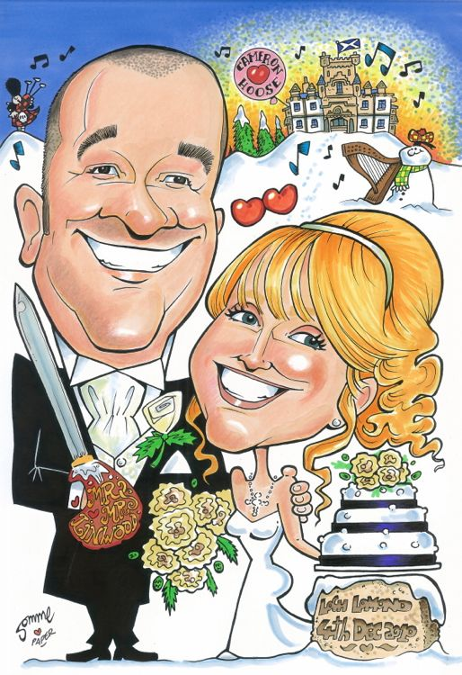 Paper Anniversary Gift Scottish Cartoon Art Studio