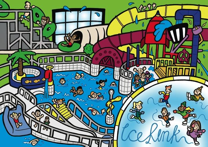 Leisure Centre Illustration
