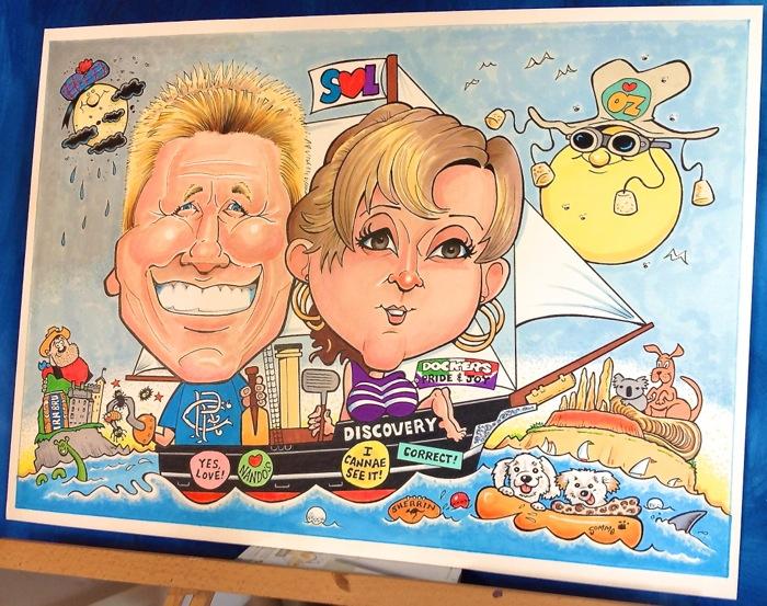 Australia caricature
