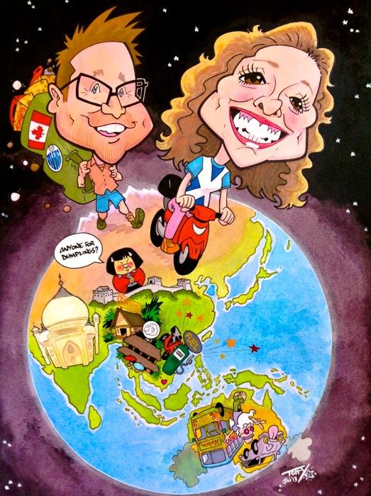 Globe caricature