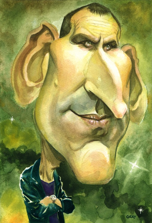 Ninth Doctor Christopher Ecclestone Scottish Cartoon