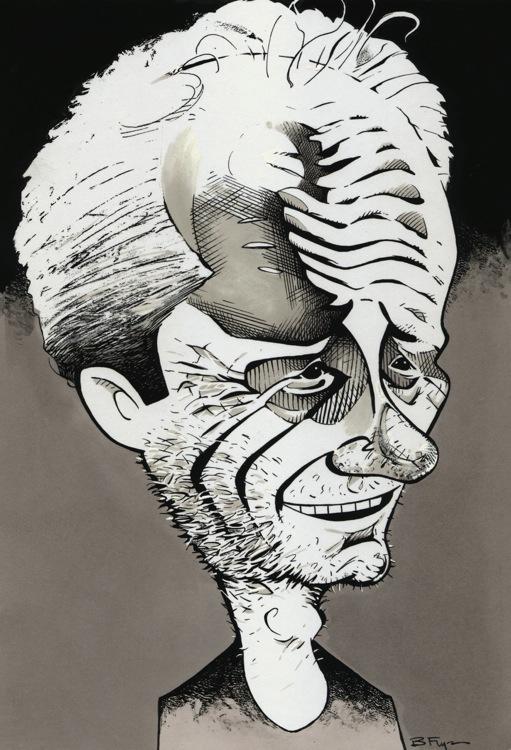 fizzers caricature peter mull an scottish cartoon art studio glasgow brian flynn caricaturist actor sunshine leith top lake fear