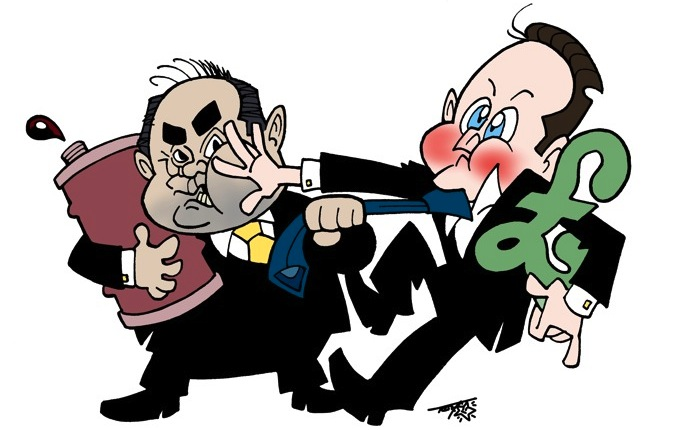 Alex Salmond & David Cameron by Terry Anderson
