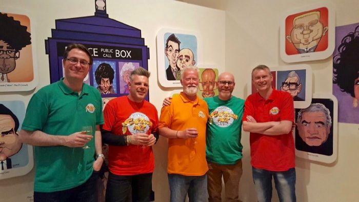 Scottish Cartoon Art Studio team at Fizzers® caricature exhibition